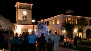 Manger blessing and Christmas tree lighting @ University Campus