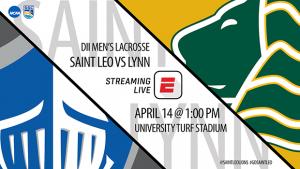 Men's lacrosse featured in ESPN Division II Showcase @ http://www.espn.com/watch/