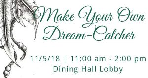 Make your own dreamcatcher @ Dining Hall Lobby