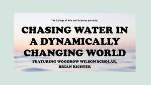 Prominent water scientist to visit University Campus @ Selby Auditorium, Lewis Hall