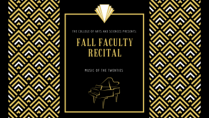 Fall Faculty Recital @ Selby Auditorium