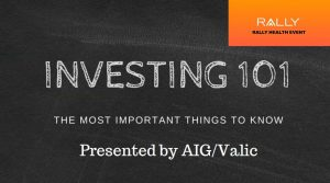 """Investing 101"" workshop @ Webinar"
