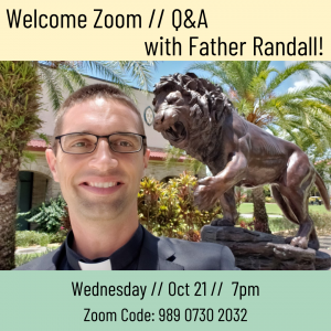 Q&A with new university chaplain, Father Randall Meissen @ Zoom